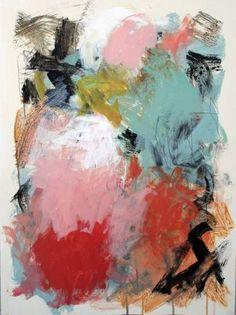 "Julie Schumer; ""Pink and Green Field 4"""