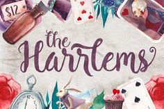 Harrlems Font + Bonus! by Harder Type Foundry on @creativemarket