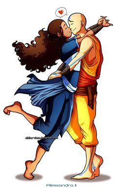 Katara and Aang from Avatar: The Last Airbender
