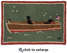 All Aboard 2 X 3 Rug Laura Megroz Wool Beach Cottage Decor