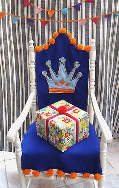 Felt Birthday Chair Slipcover | AllFreeSewing.com