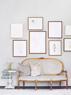 white and gold home office | Gold, grey and white {décor inspiration | at the office : at the ...