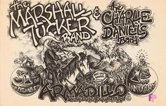 Classic Poster - Marshall Tucker Band at Armadillo World Headquarters, Austin, TX 12/31/74 & 1/1/75 by Micael Priest