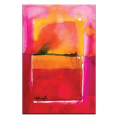 Artist Lane Watercolor Abstraction 208 by Kathy Morton Stanion Painting Print on Canvas