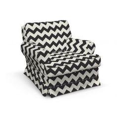 Poťah na kreslo Barkaby,tkanina: 135-02 čierno-biely cikcak, Kolekcia Comics    #potah #kreslo #IKEA #cikcak Ikea, Armchair, Couch, Bmw E46, Furniture, Home Decor, Sofa Chair, Single Sofa, Settee