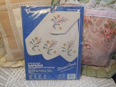 Set of 4 Napkins for Embroidery or Painting by Daysgonebytreasures, $15.00https://www.etsy.com/listing/186462781/set-of-4-napkins-for-embroidery-or?ref=shop_home_active_1