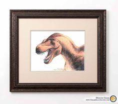 Dinosaur Gifts, Dinosaur Art, All Dinosaurs, Visionary Art, Limited Edition Prints, Predator, Watercolor Art, Fine Art, Art Prints