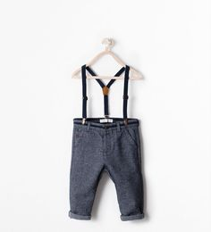 Image 1 of TROUSERS WITH SUSPENDERS from Zara