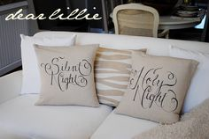 Sharpie decorated pillows.  All kinds of fun sayings you could do