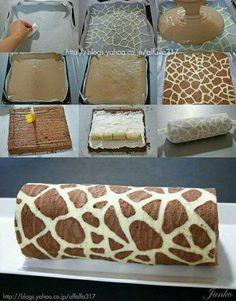 Leopard skin rollcake
