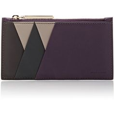 Smythson Colorblocked Coin Purse ($295) ❤ liked on Polyvore featuring bags, wallets, purple, zip wallet, zipper coin pouch, purple bag, zipper bag and zip coin pouch