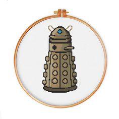 Dalek Doctor Who cross stitch pattern, Instant Download, cute cross stitch, Free shipping, PDF