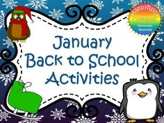 January back to school activities is the perfect no-prep resource for settling back into school after winter holidays. It includes a social bingo game, writing activities, goal setting, math review pages and a word search. Relax over the holiday break, and know that you have easy back-to-school activities ready to go!
