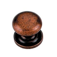 copper knob for top drawer