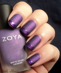 this is my reminder to buy some matte polish to try this out :) How easy?! just do the tips with a topcoat! #nailpolish #nails