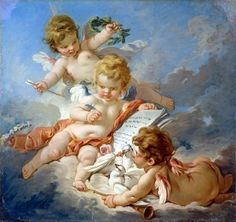 Cupids, Allegory of Poetry by Francois Boucher