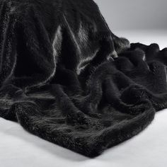Devine Luxury For This Coming Winter Wrap Up In Sumptuous Charcoal Faux Fur Throw And Relax