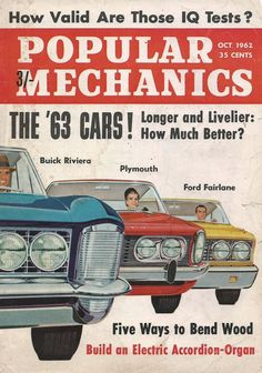 The Cars! Vintage Artwork, Vintage Frames, Popular Appetizers, Buick Riviera, Quick Weeknight Dinners, Car Magazine, Ford Fairlane, Popular Mechanics, Most Popular Recipes