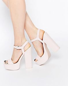 ASOS HIT THE JACKPOT Platform Heeled Sandals