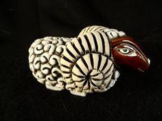 Sheep Figurine-ARTESANIA RINCONADA Big Horned Sheep-Ram Sheep Stoneware figure by BCScollectibles on Etsy