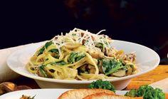 Pasta med kastanjer & spinat   Pasta og nudler Vegetarisk   Lækker vegetarisk pastaret med kastanjer og spinat. ....<