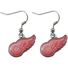 Detroit Red Wings - NHL Team Logo Dangler Earrings by aminco.  3.25. Show  your support for the Detroit Red Wings with these Team Logo Dangler  Earrings. 5a230eec0db6