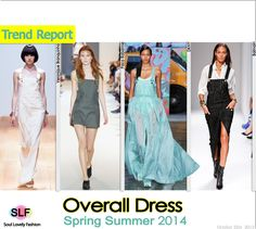 Overall #Dress #FashionTrend for Spring Summer 2014 #spring2014 #trends #overalls