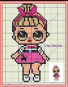 62 ideas for crochet blanket baby Unicorn Cross Stitch Pattern, Cross Stitch Baby, Cross Stitch Patterns, Perler Bead Ornaments Pattern, Perler Bead Art, Perler Beads, Pixel Art, Stitch Doll, Crochet Patron
