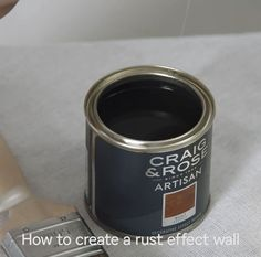, Here& how to create a feature wall in your home, with the help of the Craig & Rose Artisan Paint. You can add a rich rust effect to a stateme. , Craig & Rose Artisan Rust Effect Paint - Garden Furniture, Vintage Furniture, Painted Furniture, Diy Furniture, Furniture Stores, Graffiti Furniture, Furniture Online, Furniture Projects, Luxury Furniture