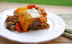 Gourmet Girl Cooks: Cheesy Beef & Cabbage Bake - Low Carb