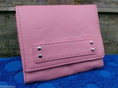 Marks and Spencer Womens Pink Small Leather Coin Purse Credit Card Paper Money…
