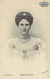 Louise of Denmark (1875 - 1906). Daughter of Frederick VIII and Louise of Sweden. She married Friedrich of Schaumburg-Lippe and had one surviving son.