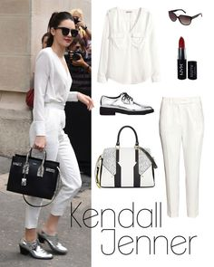 Kendall Jenner's head to toe white look at the Chanel show in Paris