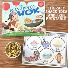 literacy snack idea Chinese new year - The Runaway Wok #literacysnack #booksnack  #chinesenewyear #kindergarten  #firstgrade