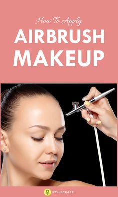 Airbrush makeup is the latest in the trends of makeup techniques that turned int. Airbrush makeup is the latest in the trends of makeup techniques that turned int. Eyeliner Brush, Lip Brush, Eyeshadow Brushes, Makeup Brushes, Eye Makeup, Camera Makeup, Luminess Air Makeup, Makeup For Older Women, Facial