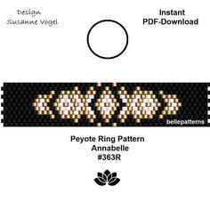 Loom Bracelet Patterns, Bead Loom Bracelets, Bead Loom Patterns, Peyote Patterns, Beading Patterns, Diy Jewelry Rings, Beaded Rings, Beaded Jewelry, Tutorials