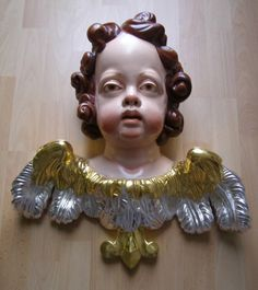 Studie hlavy andílka na barokní tvarosloví