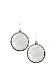 Round silver drop earrings with fishhook ear wire. These earrings are very transitional; they can be worn with a simple tee and jeans your work attire and a cocktail dress. The styling opportunities are endless!  Approximately 1.375 in length.  Round Silver Earrings by Wild Lilies Jewelry . Accessories - Jewelry - Earrings Pennsylvania