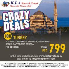 Crazy deal to Turkey, 10D, depart feb, Mar 2015, start from USD 799. info www.kiatravels.com