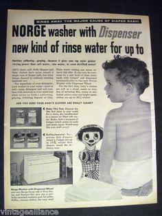 Vintage cloth diaper science experiment.  LOVE it