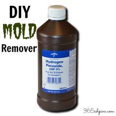 DIY Mold Remover Mix 1/2 cup hydrogen peroxide with 1 cup water and put it in a spray bottle.  Sprayed down and let it sit for one hour. After an hour passed, wiped down the walls with a wet rag.