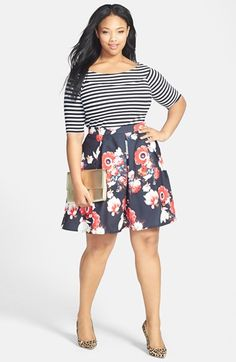Plus Size Fashion - City Chic Stripe Knit Top (Plus Size)   Nordstrom