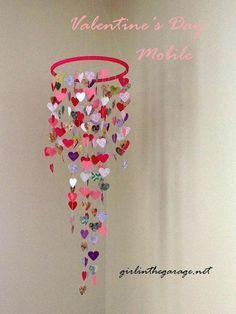 DIY Valentine's Mobile {Hanging Hearts}