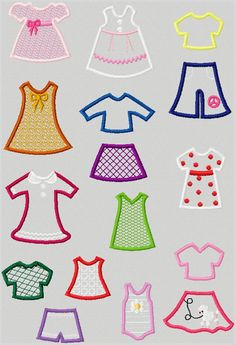 Machine Embroidery Designs - Girl PaperDolls Collection