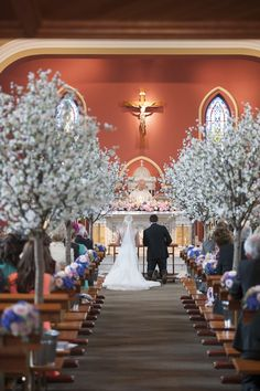 Cherry Tree Blossom Aisle Flowers Church Ceremony Flowers Relaxed Bohemian Glamour Pink Blue Wedding http://sarahfyffe.ie/