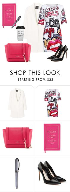 """Working Girl I"" by fashion-queendom ❤ liked on Polyvore featuring MANGO, WithChic, Furla, Kate Spade, Visconti and Alexander McQueen"