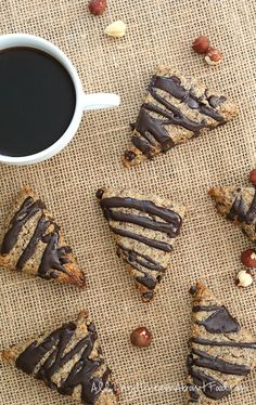 Low Carb Grain-Free Hazelnut Chocolate Chip Scones | All Day I Dream About Food