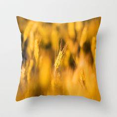 Golden Wheat Throw Pillow by Don Hooper - $20.00