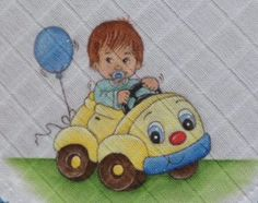 SAM_0003 Cartoon Drawings, Cute Drawings, Baby Painting, Baby Shower Cookies, Baby Art, Baby Quilts, Smurfs, Decoupage, Diy And Crafts