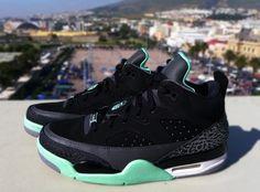 5d79f82cf Son of Mars  Green Glow  Michael Jordan Sneakers